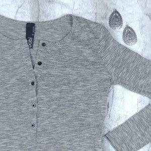 Bobi Los Angeles Grey Long Sleeve Top | K7